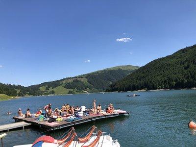 Kalle's dock on the Durlassboden reservoir ©Kalle Air